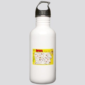 Iowa Map Greetings Stainless Water Bottle 1.0L