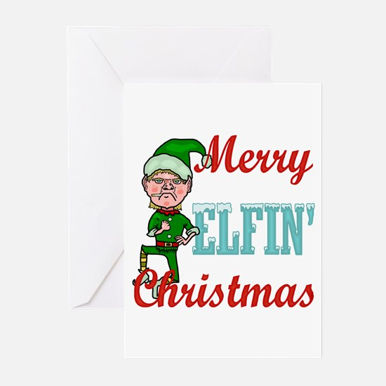 Funny Elfin Christmas Greeting Cards (Pk of 10)