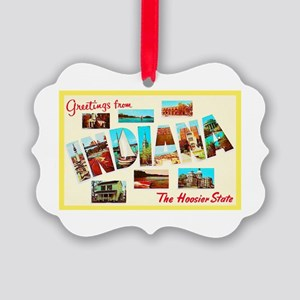 Indiana Greetings Picture Ornament