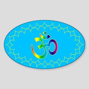 om rainbow1 Oval Sticker