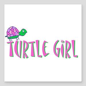 "turtlegirl.png Square Car Magnet 3"" x 3"""