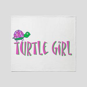 turtlegirl Throw Blanket