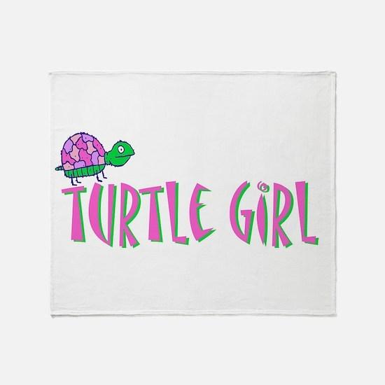 turtlegirl.png Throw Blanket