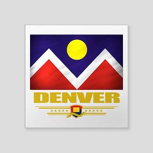 """Denver (Flag 10) Square Sticker 3"""" x 3"""""""