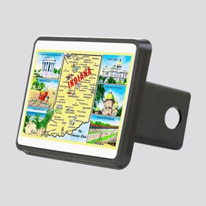 Indiana Map Greetings Rectangular Hitch Cover