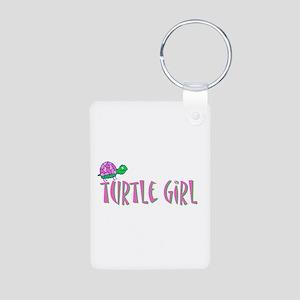 turtlegirl Aluminum Photo Keychain