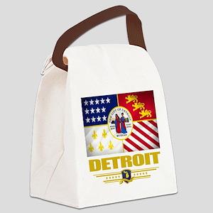 Detroit (Flag 10) Canvas Lunch Bag