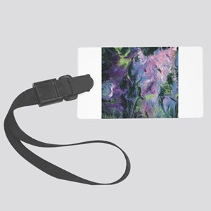 Wisteria Abstract Luggage Tag