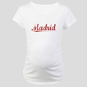 Madrid, Vintage Red Maternity T-Shirt