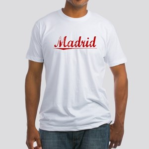 Madrid, Vintage Red Fitted T-Shirt