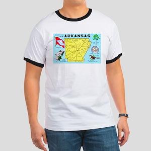 Arkansas Map Greetings Ringer T