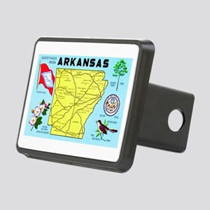 Arkansas Map Greetings Rectangular Hitch Cover