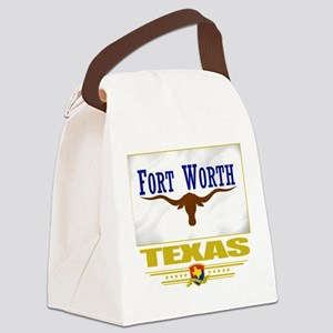 Fort Worth (Flag 10) Canvas Lunch Bag