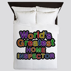 World's Greatest HOME INSPECTOR Queen Duvet