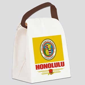 Honolulu (Flag 10) Canvas Lunch Bag
