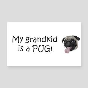 bump pug grandkid.png Rectangle Car Magnet