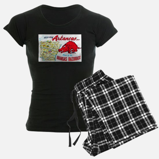 Arkansas Map Greetings Pajamas