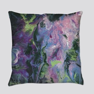 Wisteria Abstract Everyday Pillow