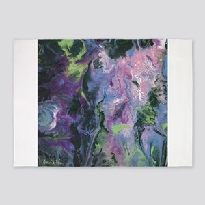 Wisteria Abstract 5'x7'Area Rug
