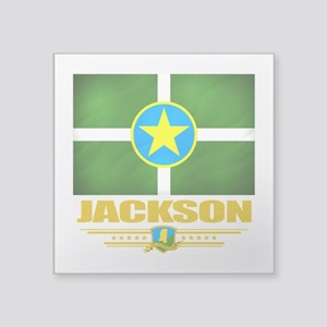 "Jackson (Flag 10) Square Sticker 3"" x 3"""