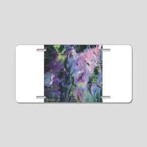 Wisteria Abstract Aluminum License Plate