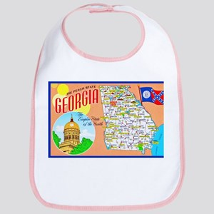 Georgia Map Greetings Bib