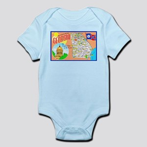 Georgia Map Greetings Infant Bodysuit