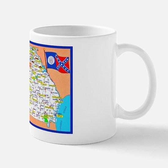 Georgia Map Greetings Mug