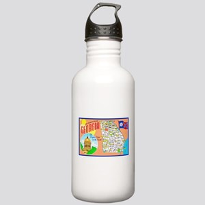 Georgia Map Greetings Stainless Water Bottle 1.0L