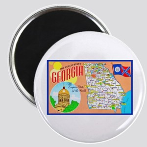 Georgia Map Greetings Magnet