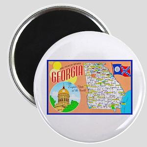 Georgia Map Greetings Magnet