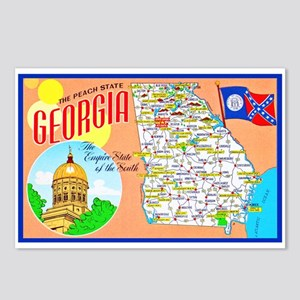 Georgia Map Greetings Postcards (Package of 8)