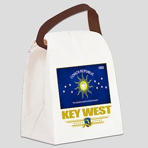 Key West (Flag 10) Canvas Lunch Bag