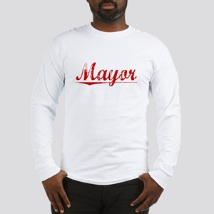 Mayor, Vintage Red Long Sleeve T-Shirt