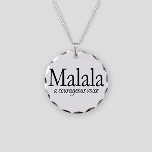 Malala Necklace Circle Charm