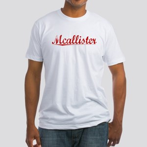 Mcallister, Vintage Red Fitted T-Shirt