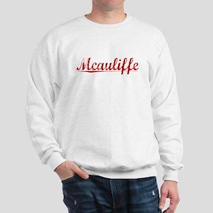 Mcauliffe, Vintage Red Sweatshirt