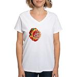 SA5K retro beach Women's V-Neck T-Shirt
