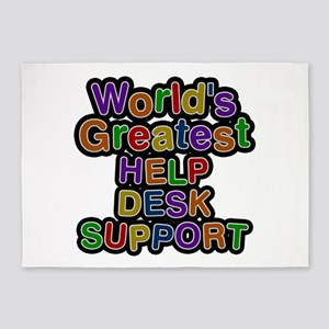 World's Greatest HELP DESK SUPPORT 5'x7' Area Rug