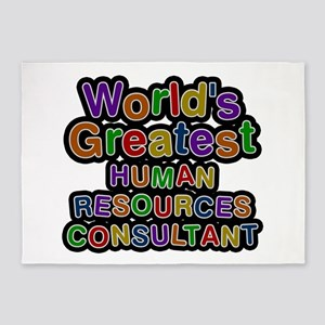 World's Greatest HUMAN RESOURCES CONSULTANT 5'x7'