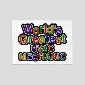 World's Greatest HVAC MECHANIC 5'x7' Area Rug
