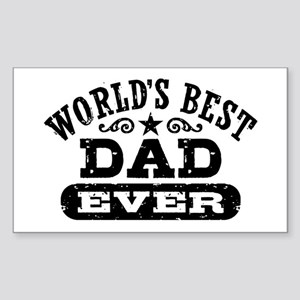 World's Best Dad Ever Sticker (Rectangle)