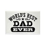 World's Best Dad Ever Rectangle Magnet