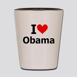 I Heart Obama Shot Glass