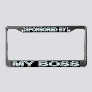 Sponsored by my boss License Plate Frame