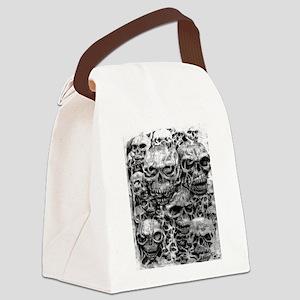skulls dark ink Canvas Lunch Bag
