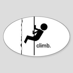 Stick Climber Oval Sticker