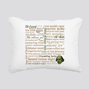 Shakespeare Insults Rectangular Canvas Pillow