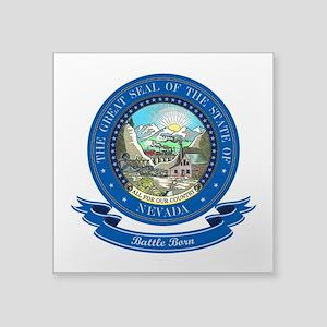 """Nevada Seal Square Sticker 3"""" x 3"""""""
