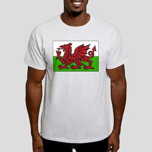 Welsh Flag Ash Grey T-Shirt